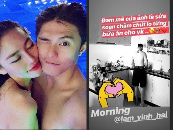 Lý Phương Châu tình tứ bên bạn trai đã là gì, Linh Chi còn được Lâm Vinh Hải vào bếp nấu ăn cho đây này