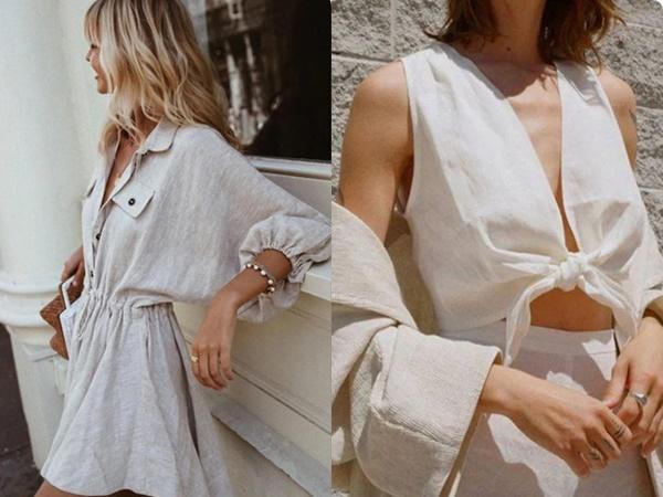 Ngoài váy lụa, phụ nữ Pháp còn mê mẩn váy áo thô đũi mộc mạc, dung dị mà phóng khoáng