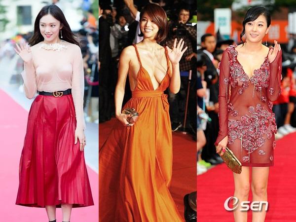 Những bộ cánh 'mặc như không' của sao Hàn trên thảm đỏ khiến netizen 'nhức mắt' vì phản cảm