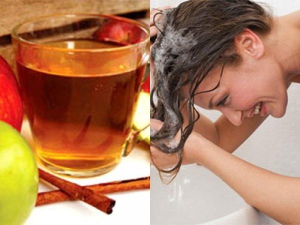 Những cách chăm sóc tóc mượt mà từ giấm táo