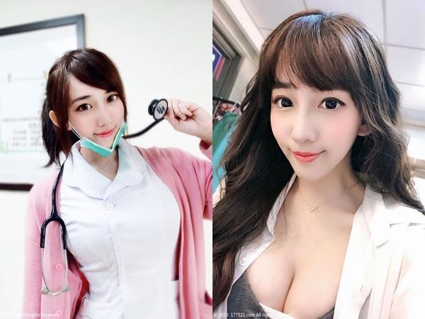 Nữ y tá xinh đẹp diện áo 2 dây bó sát 'bức tử' vòng 1 khiến dân mạng 'toát mồ hôi'