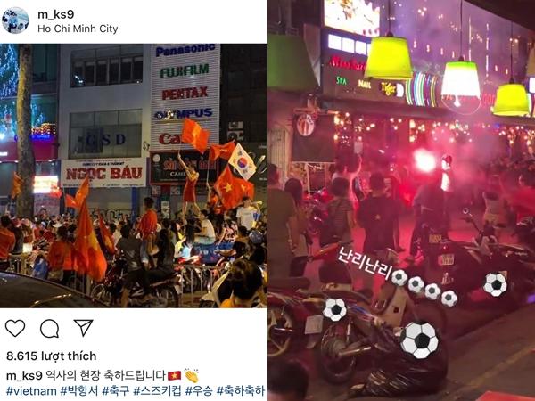 Quản lý EXID bất ngờ đăng ảnh 'đi bão' chúc mừng đội tuyển Việt Nam vô địch AFF Cup 2018