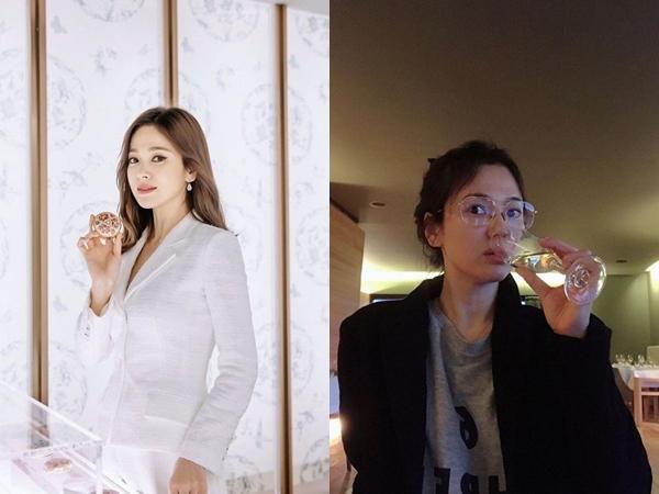 Lộ ảnh bị chụp lén, Song Hye Kyo gây ngỡ ngàng với khuôn mặt mộc