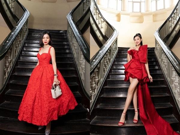 Sao Việt diện đầm đỏ đầu năm: Đỗ Thị Hà khoe chân dài 1m1, Ngọc Trinh mắc lỗi trang điểm