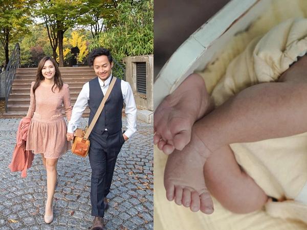 Sau gần 1 năm kết hôn, bà xã Đinh Tiến Đạt chính thức khoe ảnh quý tử đầu lòng