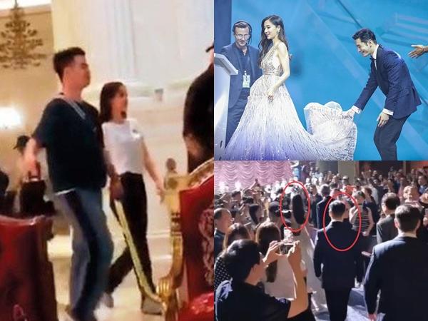 Sau khi bị bóc mẽ diễn kịch trước công chúng, Huỳnh Hiểu Minh và Angela Baby lại lộ hình ảnh đường ai nấy đi