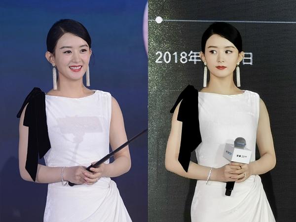 Tái xuất xinh đẹp là thế nhưng nhìn ảnh chưa photoshop của Triệu Lệ Dĩnh lại khiến netizen 'giật mình'