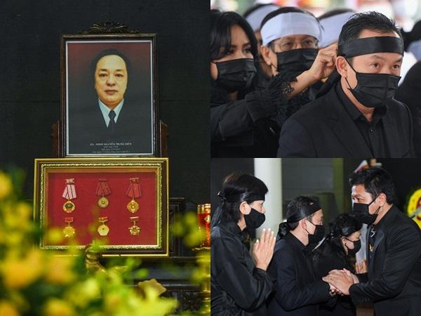 Tang lễ NSND Trung Kiên: Không nhận phúng điếu, diva Thanh Lam lặng lẽ thắt khăn tang cho chồng cũ Quốc Trung