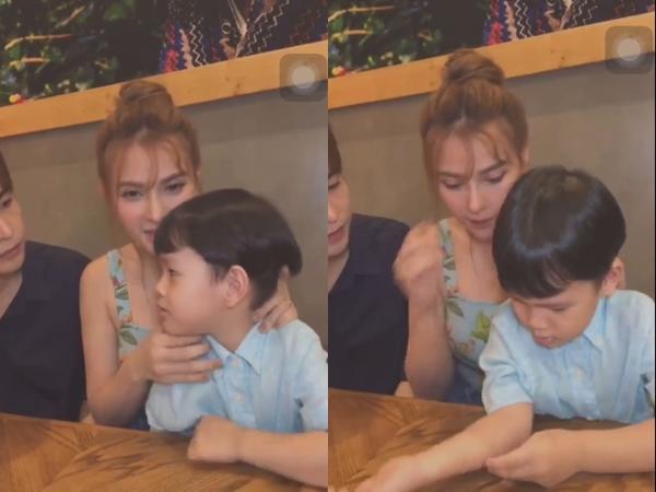 Thu Thuỷ lên tiếng bênh vực khi ông xã Kin Nguyễn bị netizen tố đối xử không tốt với con trai riêng