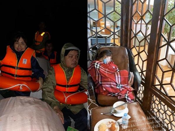 Thức trắng đêm cứu trợ người dân miền Trung, Hòa Minzy kiệt sức ngủ thiếp tại sân bay