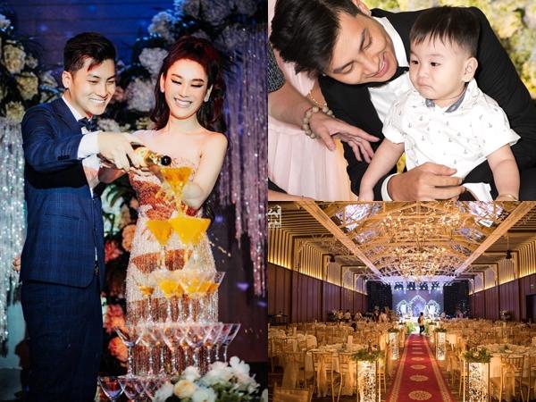 Tiệc thôi nôi siêu hoành tráng của con trai Lâm Khánh Chi hội tụ dàn khách mời toàn sao Việt