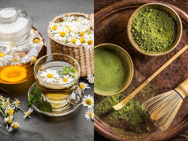 """Trà xanh, trà hoa cúc... """"thần dược"""" giúp làn da trở nên mịn màng"""