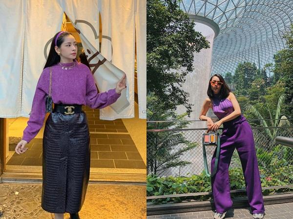 Từng bị chê quê mùa, nay đồ tím giống Jennie (Black Pink) được sao Việt thi nhau diện