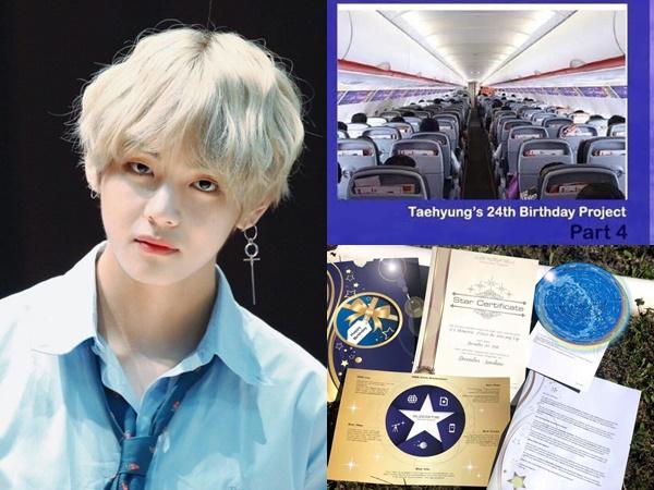V (BTS), idol Kpop đầu tiên nhận được món quà quảng bá hình ảnh bên trong máy bay của fan Việt