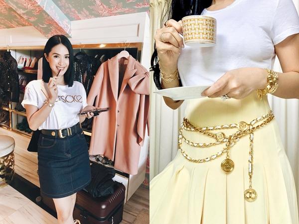 Vị phu nhân thượng nghị sĩ - bạn thân Hà Tăng có cách diện áo phông trắng rất sang xịn, nàng công sở nên học theo ngay