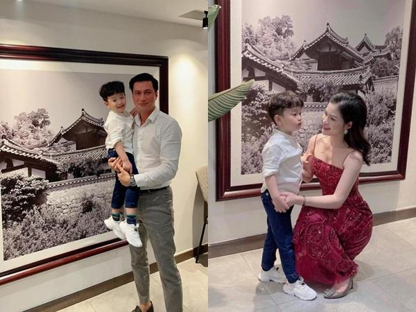 Việt Anh và vợ cũ Hương Trần tái hợp trong tiệc sinh nhật quý tử