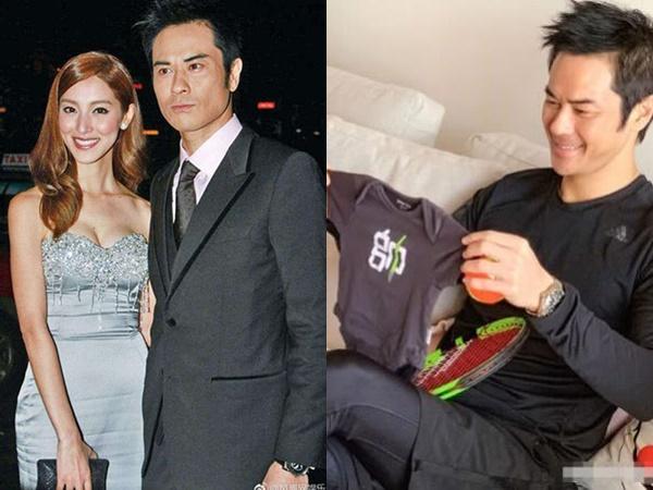 Vợ chồng tài tử Hồng Kông Trịnh Gia Dĩnh và Trần Khải Lâm hạnh phúc đón con trai đầu lòng