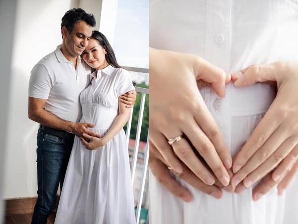 Võ Hạ Trâm mang thai con đầu lòng với chồng Ấn Độ, loạt sao Việt gửi lời chúc mừng