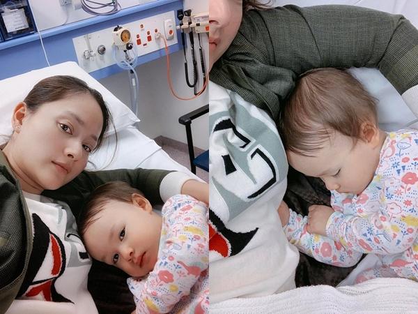 Vừa đến Úc, con gái Lan Phương đã sốt cao hơn 40 độ, người nổi chấm nhỏ phải tiến hành xét nghiệm