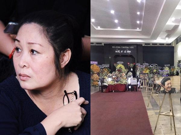 Xúc động trước lý do NSND Hồng Vân không đến viếng nghệ sĩ Lê Bình trong ngày tang lễ cuối cùng