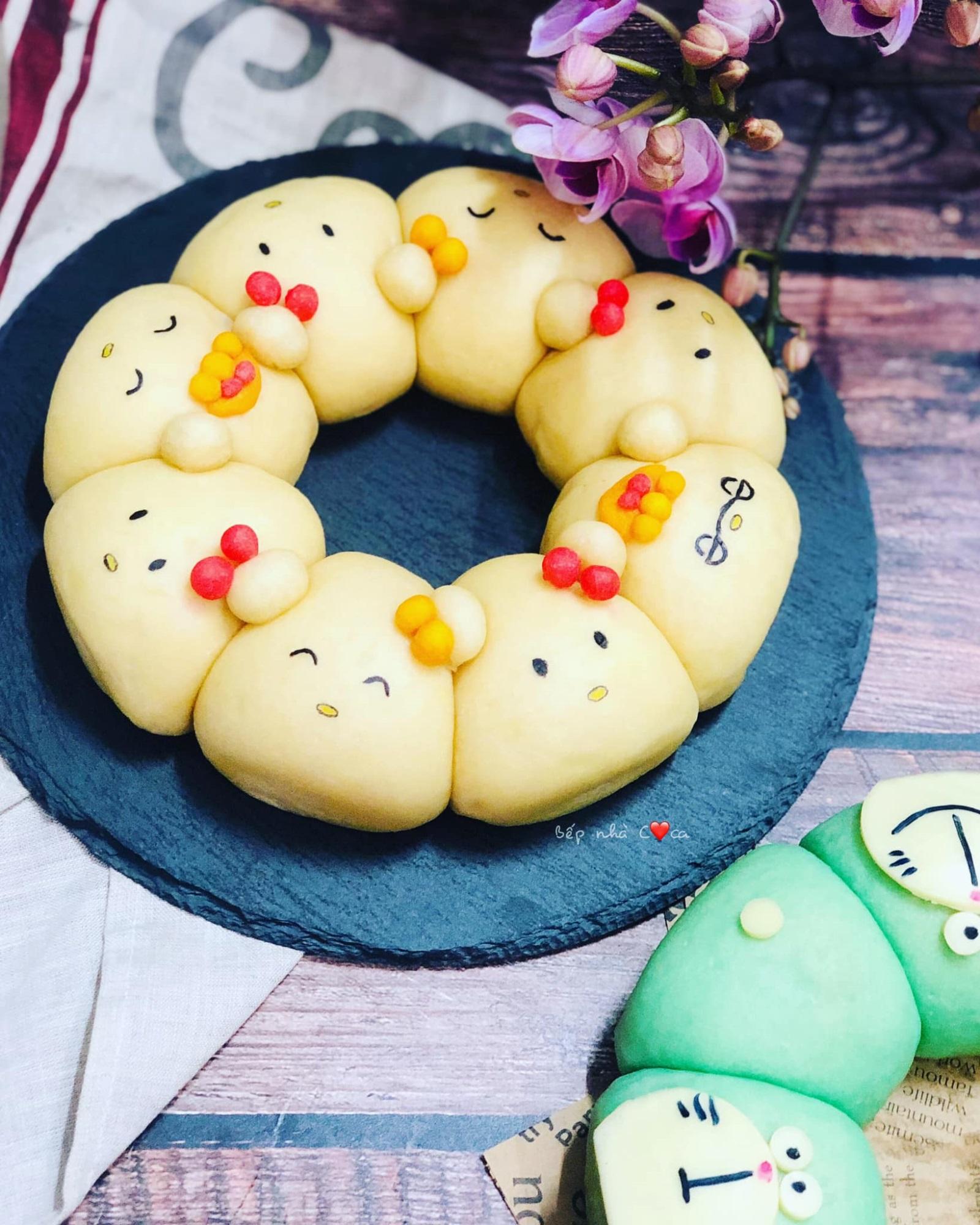 Mẹ đảm mách chị em cách làm bánh mỳ hoạt hình siêu cute khiến các bé mê tít - Ảnh 2