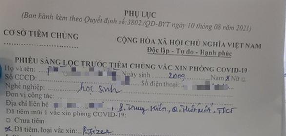 Thông tin mới nhất về vụ '57 trẻ dưới 18 tuổi được tiêm vắc xin Pfizer' ở Cần Thơ: Danh sách là chính xác - Ảnh 1