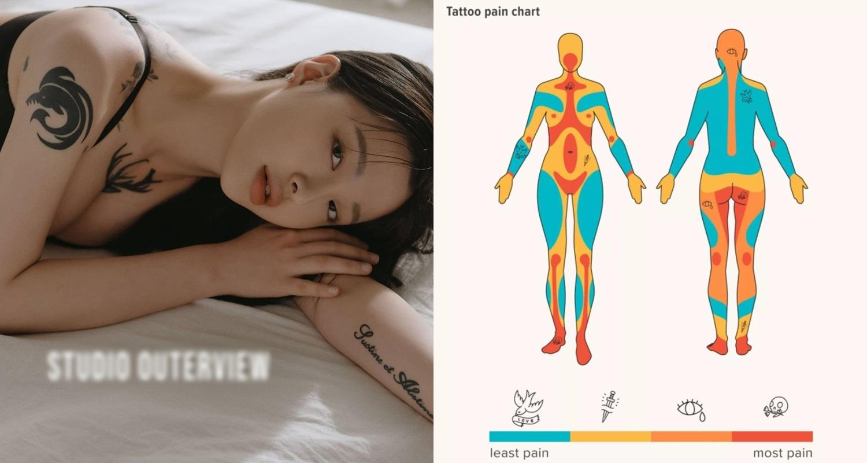 Hot girl xứ Hàn táo bạo xăm hình cỡ lớn ngay trước ngực, body cực 'mê ly' khiến nhiều FA muốn rước về 'cất tủ' - Ảnh 5