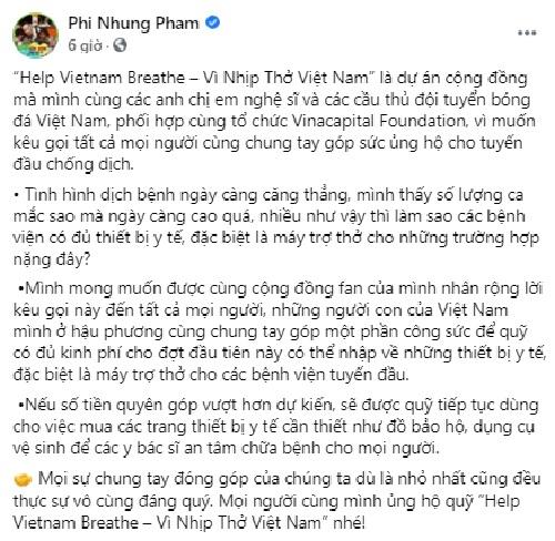 Kệ miệng đời, Phi Nhung tuyên bố 'lì mặt' kêu gọi quyên góp mua máy thở: 'Ai chửi cũng được, cứu người trước' - Ảnh 1