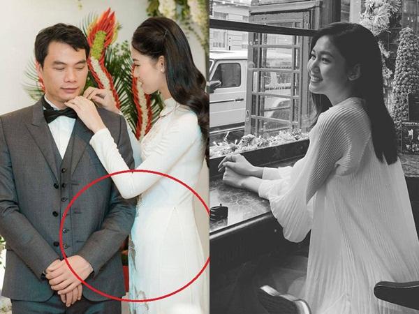 1 tháng sau đám cưới với chồng đại gia U40, Á hậu Thanh Tú bất ngờ bị bạn để lộ tin có bầu