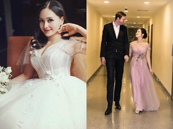 6 tháng sau sinh, Lan Phương diện váy cô dâu xinh lung linh, tiết lộ khách mời trong đám cưới