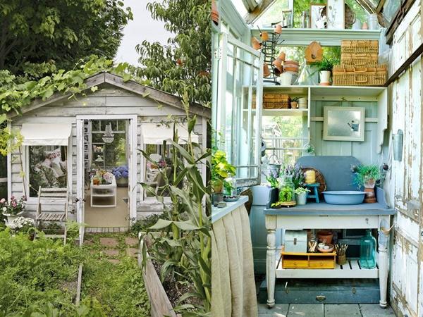8 mẹo đơn giản thiết kế nhà kho phía sân sau thành góc thư giãn đẹp như tranh vẽ