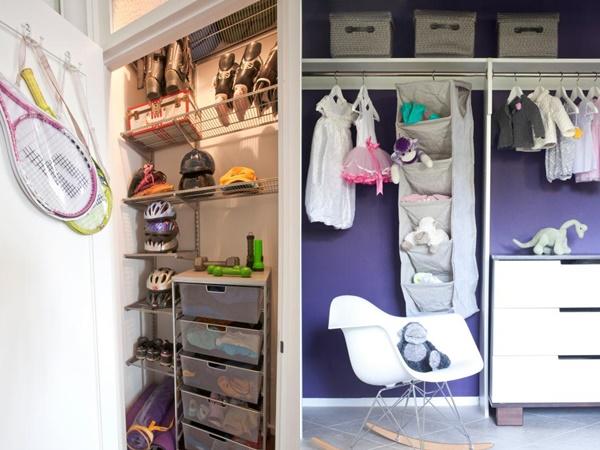 8 ý tưởng tiết kiệm khi bạn không có nơi nào để đặt hay mua một chiếc tủ quần áo