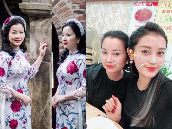 """Á hậu Huyền My khoe mẹ U50 đắt show, """"bóc phốt"""" mẹ lúc chụp hình"""