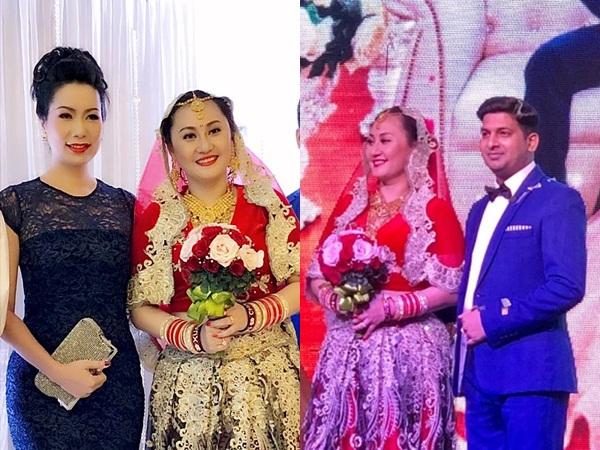 Á hậu Trịnh Kim Chi dự tiệc cưới của diễn viên Ngọc Xuân