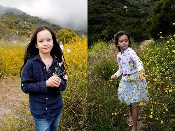 2 con nhà diva Hồng Nhung lớn nhanh như thổi, dung mạo lai Tây đẹp tựa thiên thần