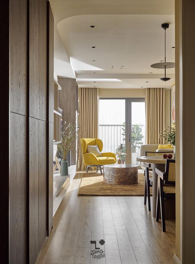 Kiến trúc sư kể chuyện nhà mình: Đập đi xây lại được căn hộ đẹp mê ly, nhìn hình thực tế mà cứ ngỡ ảnh 3D - Ảnh 4
