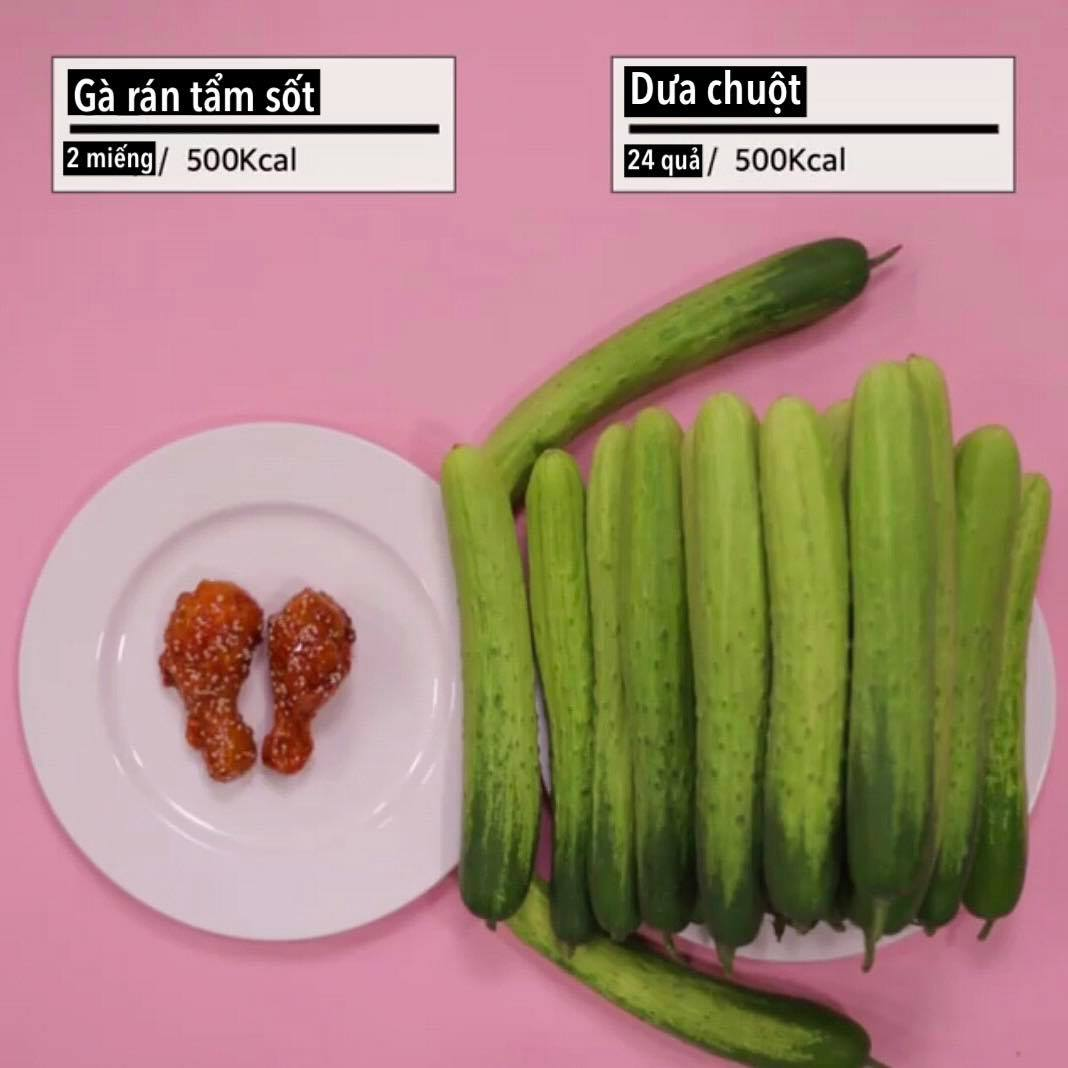 Loạt ảnh quy đổi khiến bạn 'vỡ lẽ' vì sao giảm cân hoài vẫn béo, ăn ít mà vẫn không giảm được cân nào - Ảnh 6