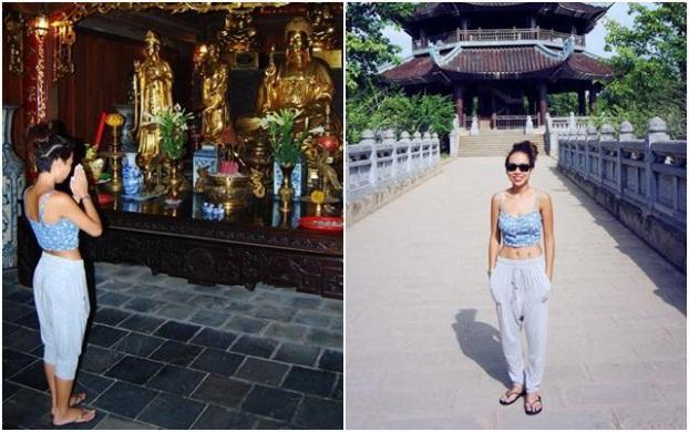 Thời trang sao Việt khi đi chùa: Hoàng Thùy bị phản ứng dữ dội, Phi Thanh Vân kém duyên - Ảnh 4