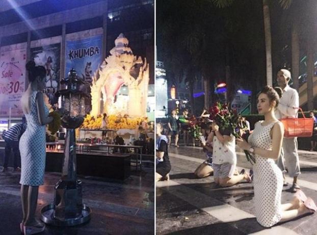 Thời trang sao Việt khi đi chùa: Hoàng Thùy bị phản ứng dữ dội, Phi Thanh Vân kém duyên - Ảnh 6