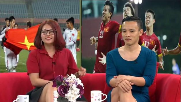 Nói là làm, chồng mặc váy của vợ đi làm cả ngày sau khi U23 Việt Nam thắng trận bán kết - Ảnh 5