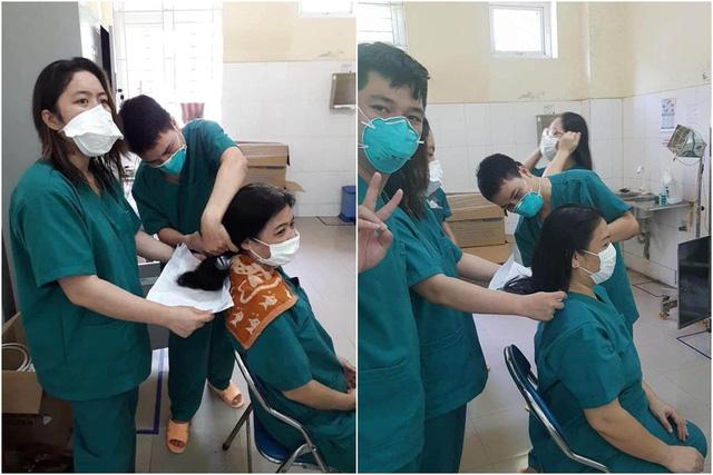 Loạt hình ảnh xúc động về y bác sĩ trước trận chiến mới chống lại Covid-19: Người tạm biệt con ốm vào Đà Nẵng cứu viện, người không ngại cắt phăng mái tóc dài - Ảnh 4
