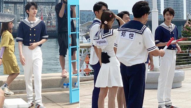 Running Man: Angelababy mặc đồ thủy thủ xinh xắn, Thái Từ Khôn khoe chân siêu dài lấn át các đàn anh - Ảnh 2