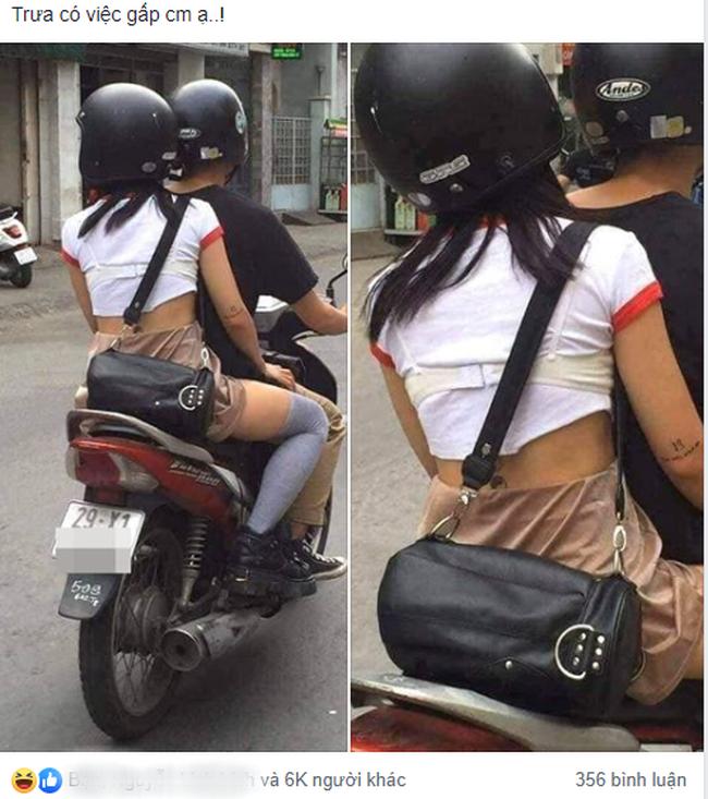 Cô gái diện áo phông kín đáo nhưng vẫn khiến người đi đường hú hồn vì gu thời trang độc lạ thế này - Ảnh 1