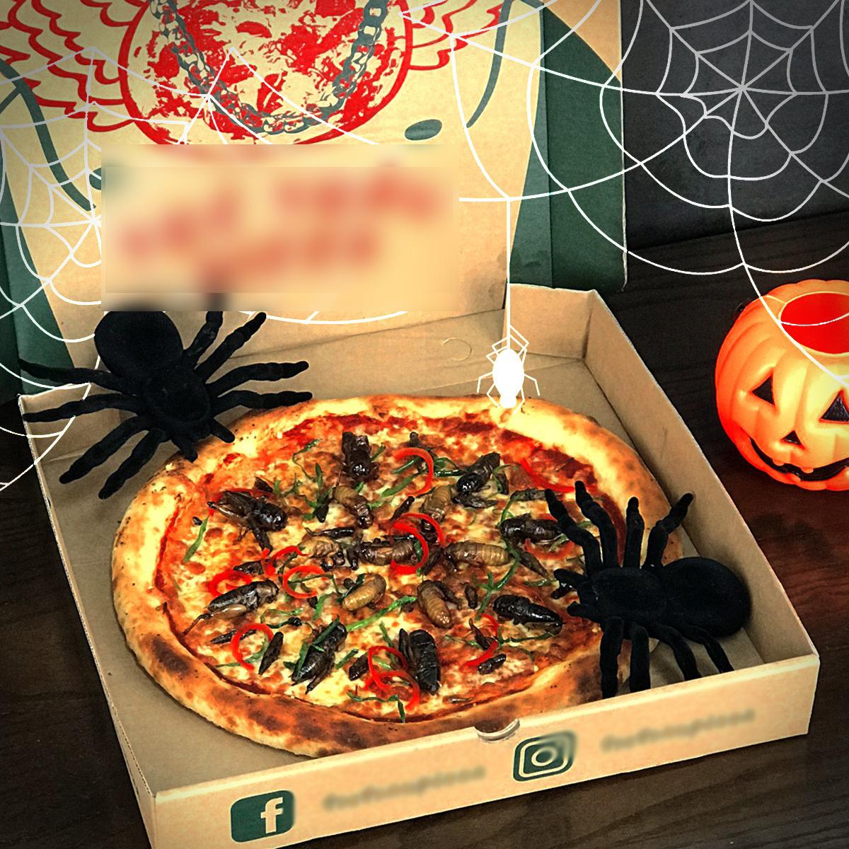 Hà Nội: Xuất hiện loại pizza có topping dế mèn, châu chấu, ve sầu khiến khách hàng yếu tim chạy... mất dép - Ảnh 2