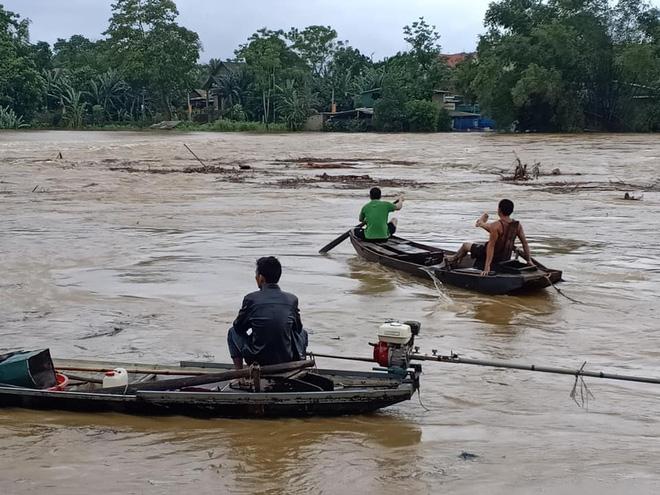 Người dân Hà Tĩnh liều mình vớt củi bất chấp nước sông dâng cao - Ảnh 3