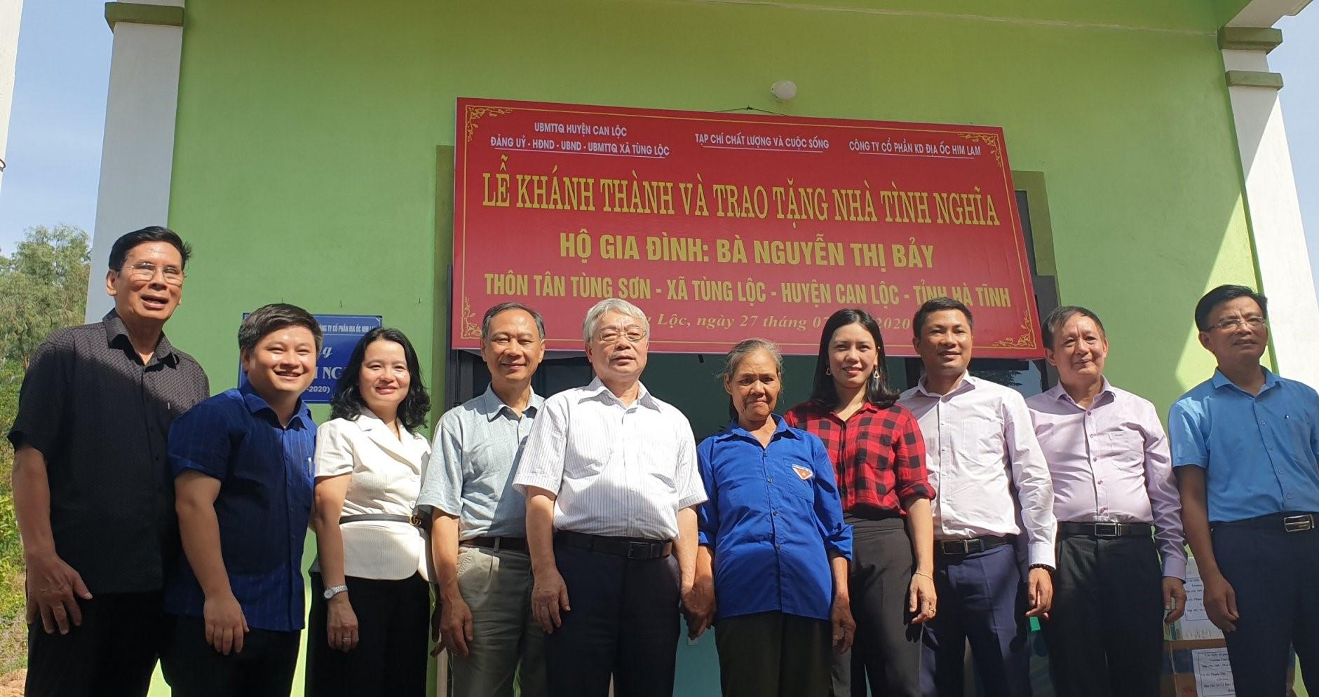 Him Lam Land chung tay trao tặng nhà tình nghĩa cho gia đình liệt sỹ ở Can Lộc, Hà Tĩnh - Ảnh 1
