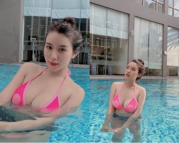 Hot girl Việt mới nổi diện bikini khoe body bốc lửa khiến dân mạng trầm trồ - Ảnh 2