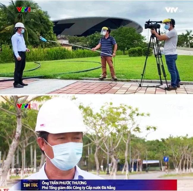 Hậu trường phỏng vấn thời Covid của phóng viên VTV: Đeo kính chống giọt bắn cẩn thận, quấn khẩu trang cả mic, đứng cách xa khách mời 2 mét - Ảnh 1