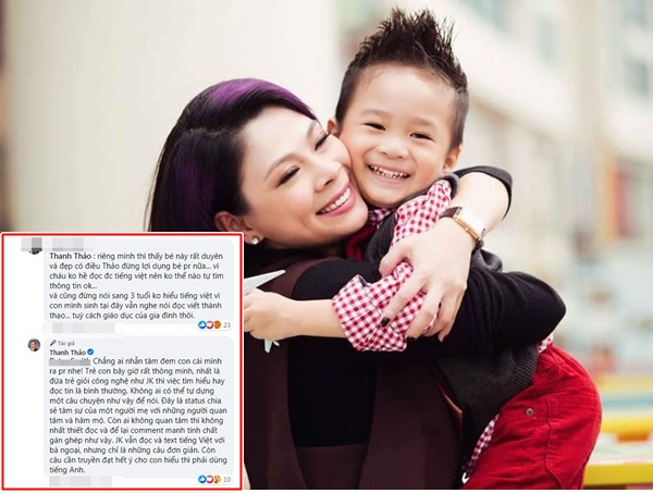 Bị chỉ trích lợi dụng con trai Ngô Kiến Huy, ca sĩ Thanh Thảo 'phản pháo' cực gắt