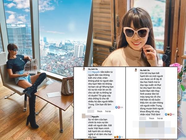Bị chỉ trích 'vô lương tâm' và so sánh với Thủy Tiên, Hà Anh đáp trả cực gay gắt